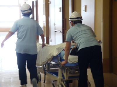 川西湖山病院「避難誘導訓練」