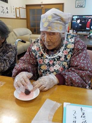 楓の家 桜餅で茶話会