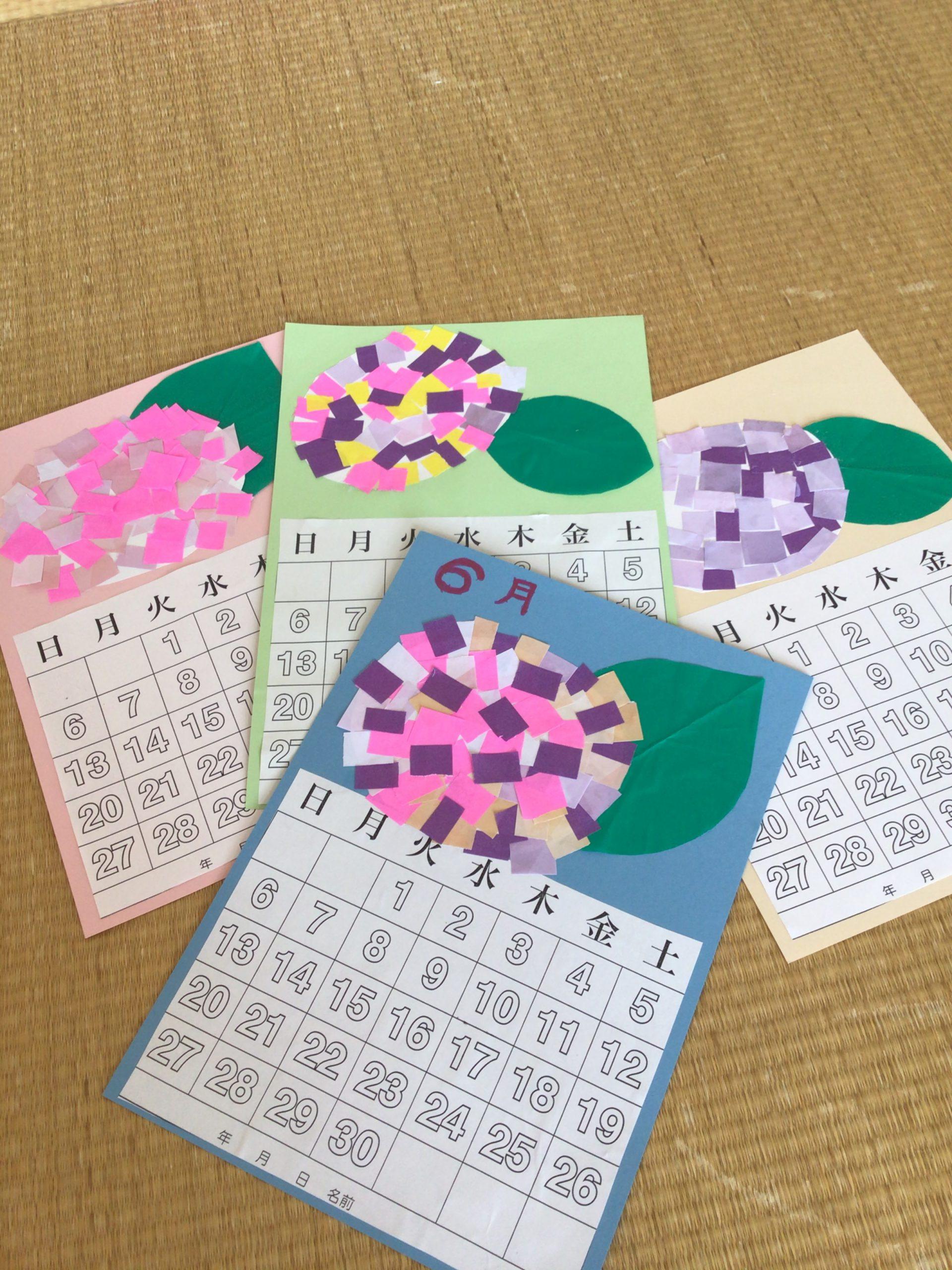 湖山ケアサービス米沢 6月のカレンダー作り