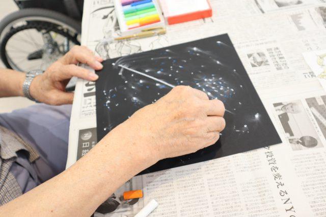 オードエクラ「オイルパステルで宇宙を創ろう」