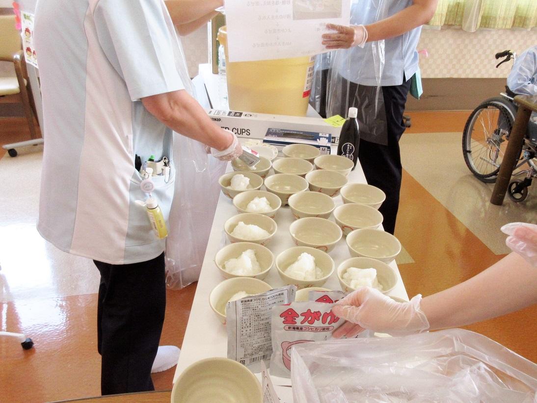 川西湖山病院 栄養科「備蓄食を使った防災訓練」